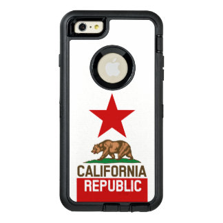 Dynamic California State Flag Graphic on a OtterBox iPhone 6/6s Plus Case