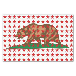 Dynamic California State Flag Graphic on a Tissue Paper
