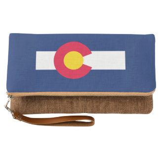Dynamic Colorado State Flag Graphic on a Clutch
