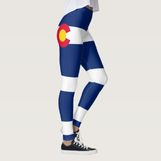 Dynamic Colorado State Flag Graphic on a Leggings