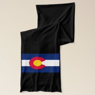 Dynamic Colorado State Flag Graphic on a Scarf
