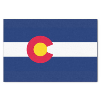 Dynamic Colorado State Flag Graphic on a Tissue Paper