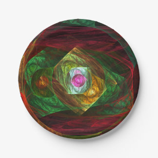 Dynamic Connections Abstract Art 7 Inch Paper Plate