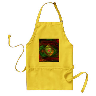 Dynamic Connections Abstract Art Apron