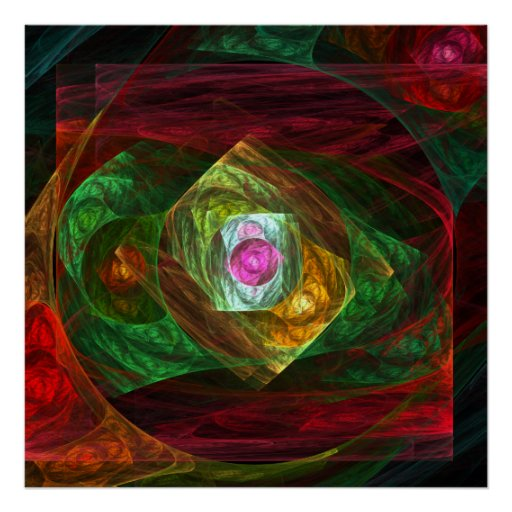 Dynamic Connections Abstract Art Print