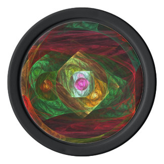 Dynamic Connections Abstract Art Set Of Poker Chips