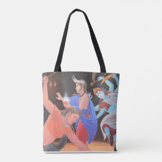 Dynamic Deities Custom All-Over-Print Tote Bag