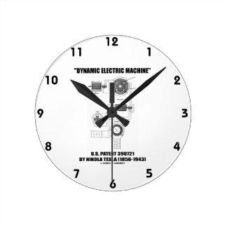 Dynamic Electric Machine U.S. Patent Nikola Tesla Clocks