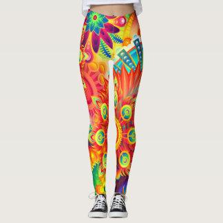 Dynamic Fashion Fractal Colorful Leggings