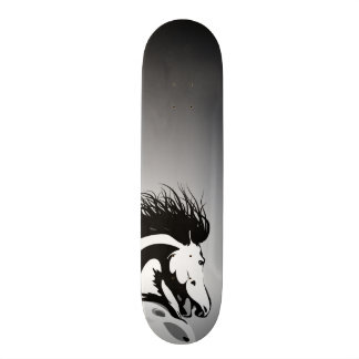 dynamic horse illustration skate board deck