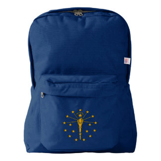 Dynamic Indiana State Flag Graphic on a Backpack
