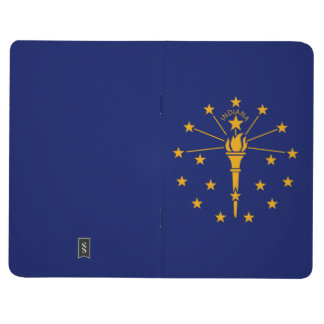 Dynamic Indiana State Flag Graphic on a Journal