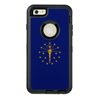 Dynamic Indiana State Flag Graphic on a OtterBox Defender iPhone Case