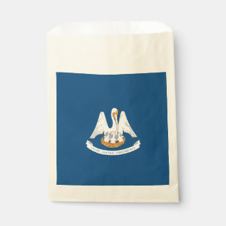 Dynamic Louisiana State Flag Graphic on a Favour Bag