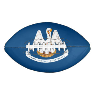 Dynamic Louisiana State Flag Graphic on a Football