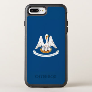 Dynamic Louisiana State Flag Graphic on a OtterBox Symmetry iPhone 8 Plus/7 Plus Case
