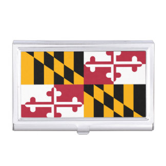 Dynamic Maryland State Flag Business Card Holder