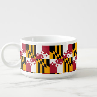 Dynamic Maryland State Flag Graphic on a Bowl