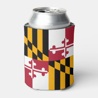 Dynamic Maryland State Flag Graphic on a Can Cooler