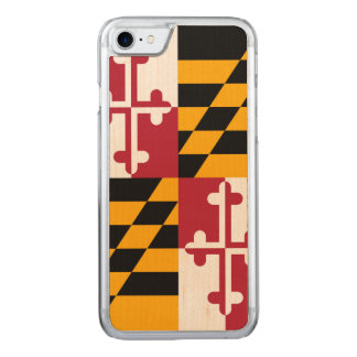 Dynamic Maryland State Flag Graphic on a Carved iPhone 8/7 Case