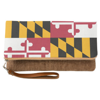 Dynamic Maryland State Flag Graphic on a Clutch