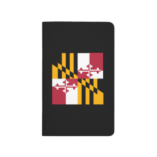 Dynamic Maryland State Flag Graphic on a Journal
