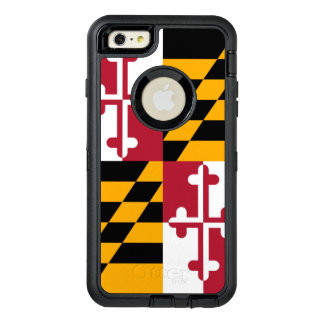 Dynamic Maryland State Flag Graphic on a OtterBox Defender iPhone Case