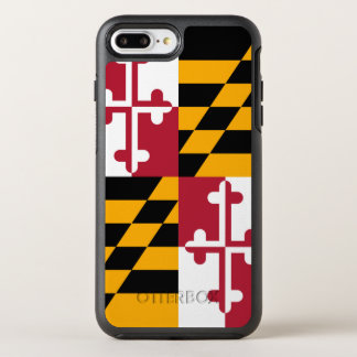 Dynamic Maryland State Flag Graphic on a OtterBox Symmetry iPhone 8 Plus/7 Plus Case