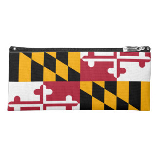 Dynamic Maryland State Flag Graphic on a Pencil Case