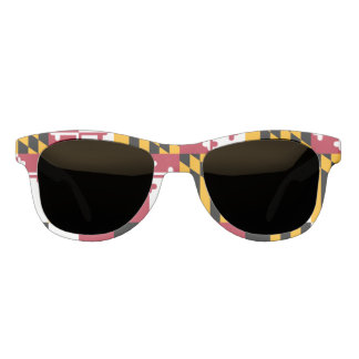 Dynamic Maryland State Flag Graphic on a Sunglasses