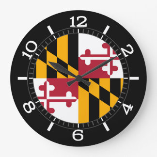 Dynamic Maryland State Flag on a Large Clock