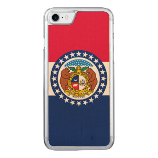 Dynamic Missouri State Flag Graphic on a Carved iPhone 8/7 Case