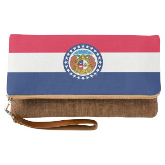 Dynamic Missouri State Flag Graphic on a Clutch