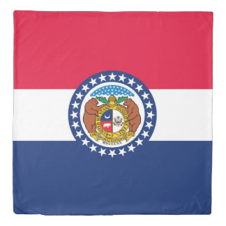Dynamic Missouri State Flag Graphic on a Duvet Cover