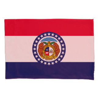Dynamic Missouri State Flag Graphic on a Pillowcase