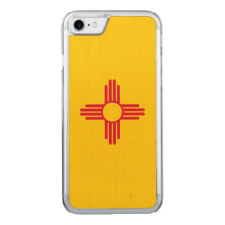 Dynamic New Mexico State Flag Graphic on a Carved iPhone 8/7 Case