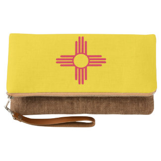 Dynamic New Mexico State Flag Graphic on a Clutch