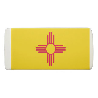 Dynamic New Mexico State Flag Graphic on a Eraser