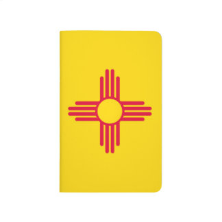 Dynamic New Mexico State Flag Graphic on a Journal