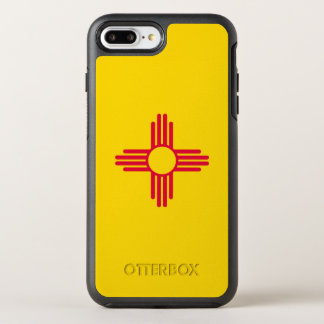 Dynamic New Mexico State Flag Graphic on a OtterBox Symmetry iPhone 8 Plus/7 Plus Case