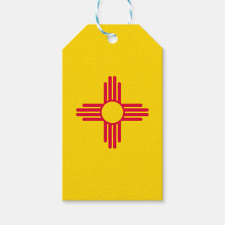 Dynamic New Mexico State Flag Graphic on a Pack Of Gift Tags