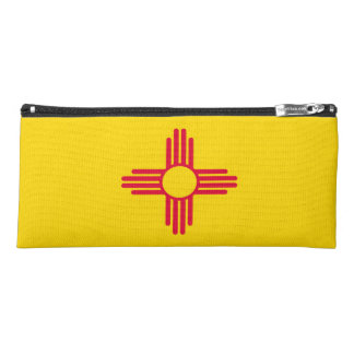 Dynamic New Mexico State Flag Graphic on a Pencil Case