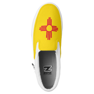 Dynamic New Mexico State Flag Graphic on a Slip-On Sneakers