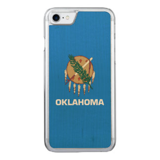 Dynamic Oklahoma State Flag Graphic on a Carved iPhone 7 Case