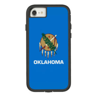 Dynamic Oklahoma State Flag Graphic on a Case-Mate Tough Extreme iPhone 7 Case