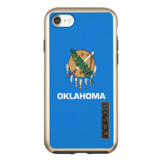Dynamic Oklahoma State Flag Graphic on a Incipio DualPro Shine iPhone 7 Case