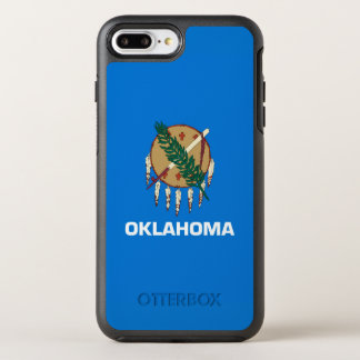 Dynamic Oklahoma State Flag Graphic on a OtterBox Symmetry iPhone 7 Plus Case