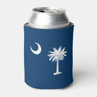 Dynamic South Carolina State Flag Graphic on a Can Cooler