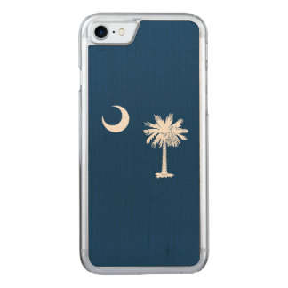 Dynamic South Carolina State Flag Graphic on a Carved iPhone 8/7 Case