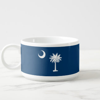 Dynamic South Carolina State Flag Graphic on a Chili Bowl